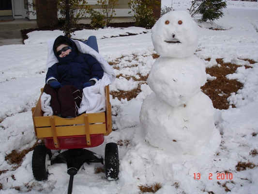 Max and snow man