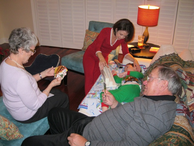 Playing go fish christmas