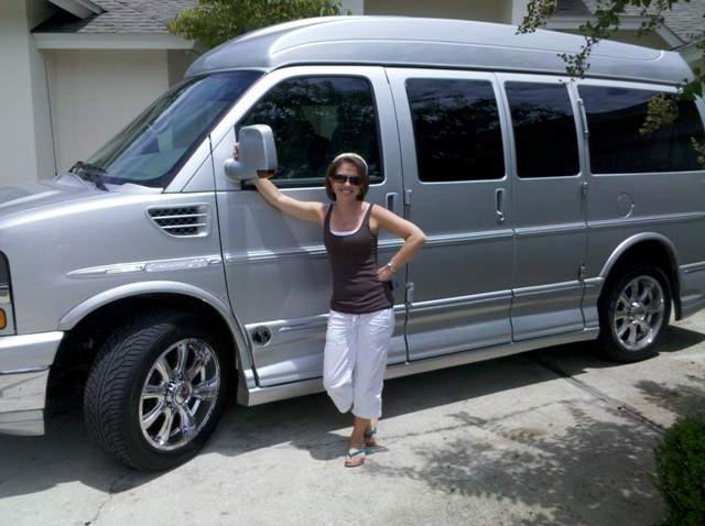 Traci and the new van